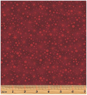Benartex Winter Wonderland 2272-19 Claret