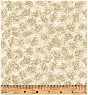Benartex Winter Wonderland 4654-70 Natural
