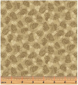 Benartex Winter Wonderland 4654-72 Tan