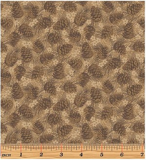 Benartex Winter Wonderland 4654-77 Brown