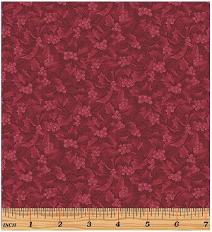 Benartex Winter Wonderland 4656-19 Claret