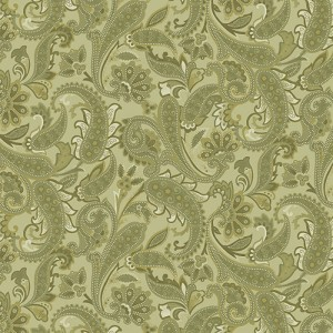 Benartex Winterberry Tonal Paisley Med.Green 9644-43