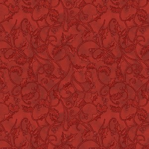 Benartex Winterberry Scroll Red 9645-10