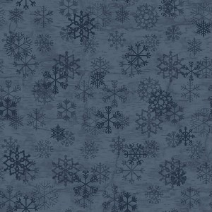 Benartex Evening Frost 9654-55 Flakes Blue