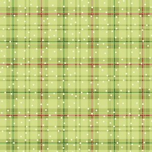 Benartex Better Not Pout Winter Plaid Olive BEN10175-46