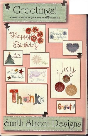 Embroidery Greeting Cards with CD