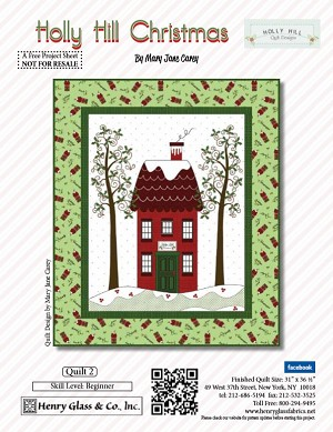 Henry Glass Holly Hill Christmas Free Pattern