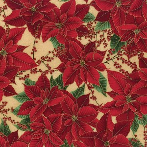 Hoffman Berries and Blooms Cream/Gold M7462-33G