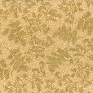 Hoffman Berries and Blooms Cream/Gold M7470-33G