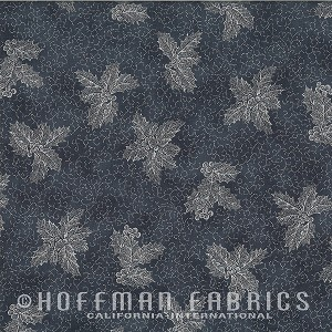 Hoffman Warm Wishes Metallic Holly/Scroll N7527-55S