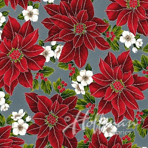 Hoffman Poinsettia Song Q7635-147S Storm/Silver