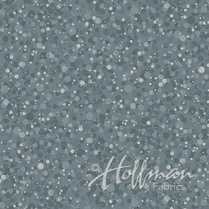 Hoffman Poinsettia Song Q7637-147S Storm/Silver