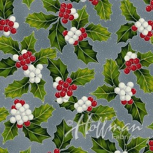 Hoffman Poinsettia Song Q7638-147S Storm/Silver