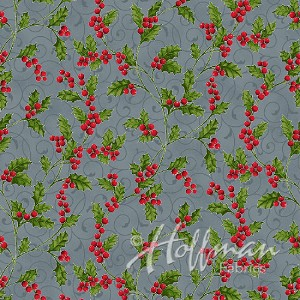 Hoffman Poinsettia Song Q7639-147S Storm/Silver