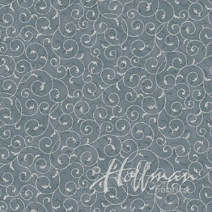 Hoffman Poinsettia Song Q7640-147S Storm/Silver