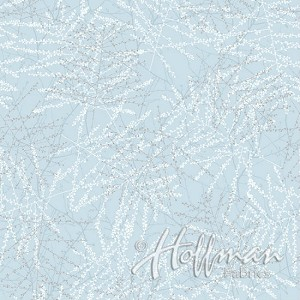 Hoffman Baby It's Cold Outside Q7648-190S Ice Blue/Silver