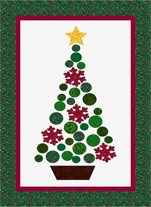 o christmas tree quilt kit 9653 955