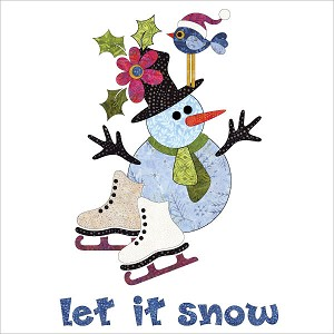 Let It Snow Wall Hanging Batik UE-LISKit