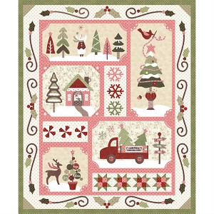 Sew Merry Pink/Light Quilt Kit