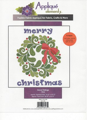 Good Tidings Dotz Applique Kit UEA-1206