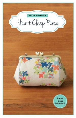 Heart Clasp Purse Kit with Pattern ZW2194