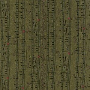 Moda Delightful December music scale 17872-12 Pine