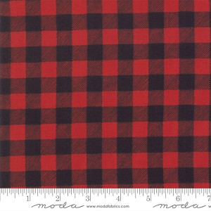 Moda Homegrown Holidays Red Black Buffalo Plaid 19897-12