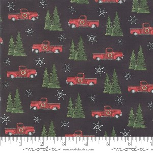Moda Homegrown Holidays Farm Black Trucks & Trees 19942-17
