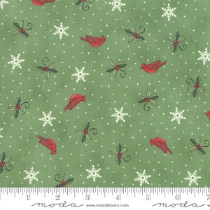 Moda Homegrown Holidays Evergreen Cardinals & Greenery 19945-14