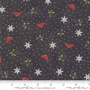Moda Homegrown Holidays Farm Black Cardinals & Greenery 19945-16