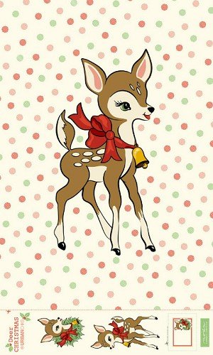 "Moda Deer Christmas 54"" x 90"" Digital Panel 31160P"