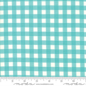Moda Deer Christmas Coolmint Check 31166-17