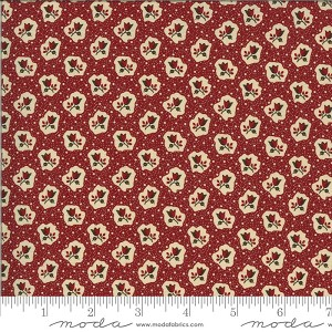 Moda Redwork Gatherings 49119-13 Dark Red