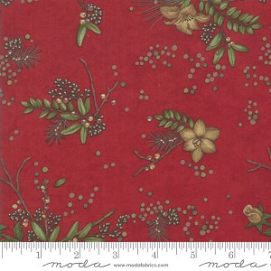 Moda Winter Manor Cardinal Floral 6771-15