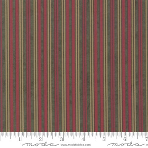 Moda Winter White Stripe Forest 6816-17