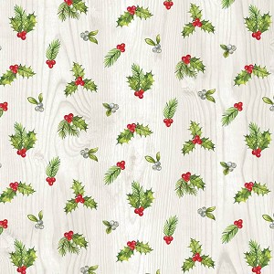Northcott The Scarlet Feather 23477-91 Mini Holly Toss