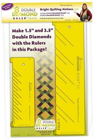 "Double Diamond Ruler 1-1/2"" & 3-1/2"""