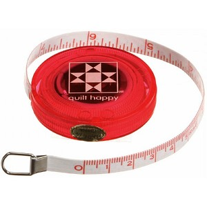 Tape Measure Quilt Happy Red 5 ft Retractable QH652-RE