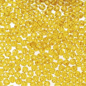 Darice 4mm Faceted Sun Gold Beads 140 Pack 06122-1-T5