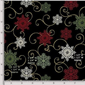 Benartex A Festive Season II 2655M12B Fat Quarter