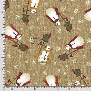 Benartex Winter Wonderland 4651-72 Tan Fat Quarter