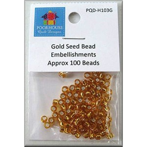 Gold Seed Bead Embellishment Kit PQD103G for Pattern PQD196