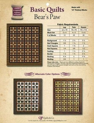Bear's Paw Pattern by Kathy Seal