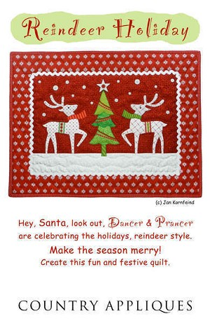 Reindeer Holiday Pattern by Country Appliques