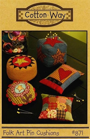 Folk Art Pin Cushions Pattern from Cotton Way