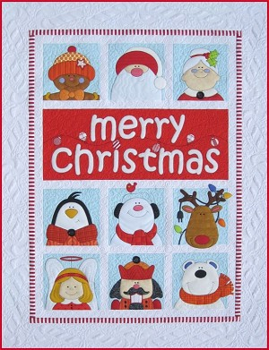 Merry Christmas, Nutcracker or Penguin Quilt Pattern (E-product)