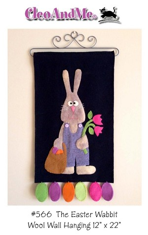 The Easter Wabbit Wool Penny Rug Pattern CAM566