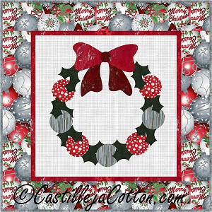 Ornaments & Bow Wreath Quilt Pattern CJC-40707