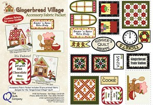 The Quilt Company Gingerbread Village Accessory Pack THQGV108