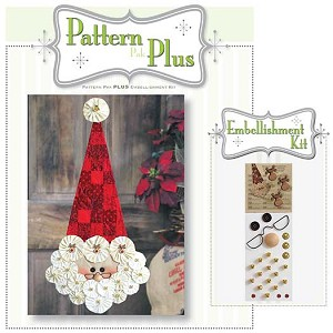 Vintage Yo-Yo Santa Pattern and Embellishment Kit